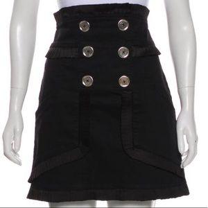 Alice McCall High Waisted Black Pleated Skirt